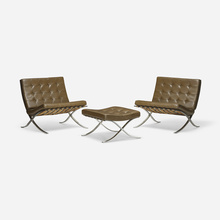 LUDWIG MIES VAN DER ROHE, Pair Of Barcelona Chairs And Ottoman |  Wright20.com