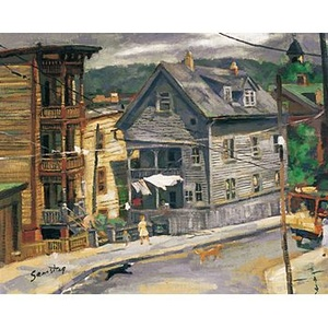 241: GORDON SAMSTAG, Untitled (New England Town) < The