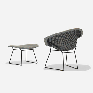 330: HARRY BERTOIA, Diamond Chair And Ottoman U003c American Design, 16  February 2017 U003c Auctions | Wright: Auctions Of Art And Design