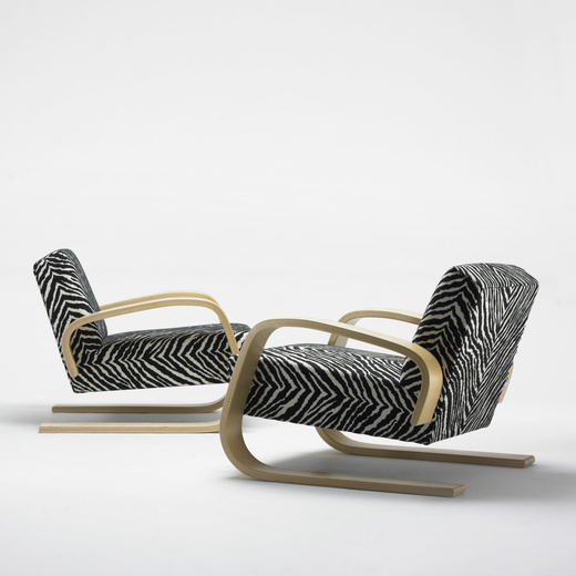 Armchair 400 � Tank� Lounge Chairs From Artek: 108: Alvar Aalto / Tank Lounge Chairs Model 37/400, Pair