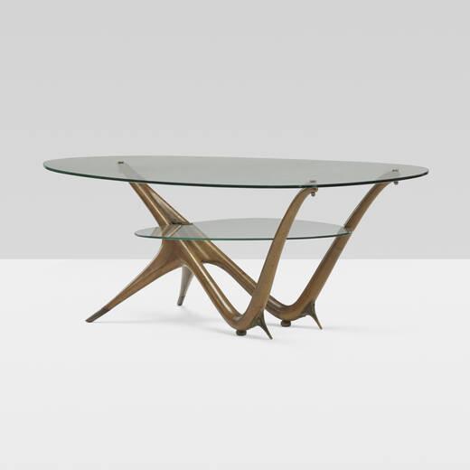 198: Carlo Mollino / Important Coffee Table, Model 1114