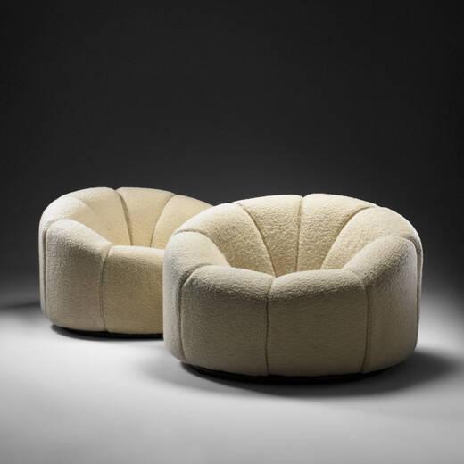 147 pierre paulin lys e lounge chairs pair. Black Bedroom Furniture Sets. Home Design Ideas