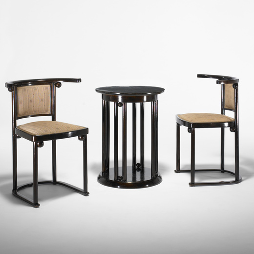 157: JOSEF HOFFMANN, Table And Chairs, Pair U003c Important Design, 8 December  2009 U003c Auctions | Wright: Auctions Of Art And Design