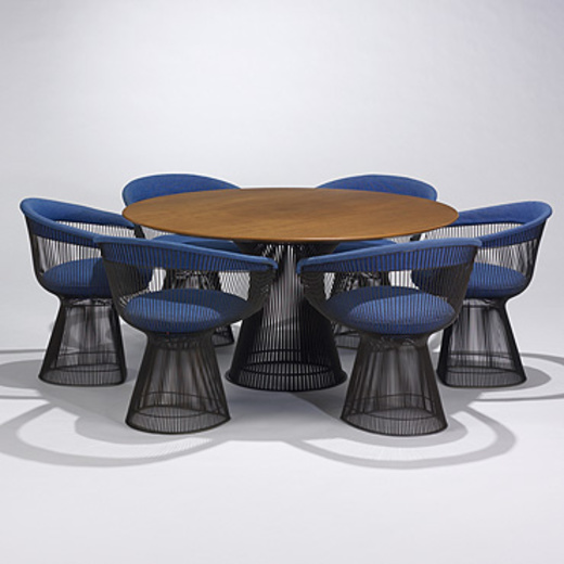 platner furniture. 197: WARREN PLATNER, Dining Table, Model #3716T And Six Chairs, #1725A \u003c Important 20th Century Design Session 1, 20 May 2007 Auctions Platner Furniture
