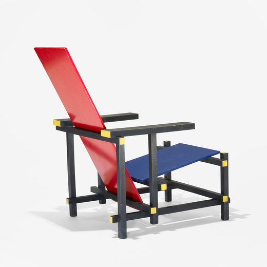 Blue Chair For 198 Gerrit Rietveld Red Blue Chair u003c Important Design June 2009 Auctions Wright Of Art And Design