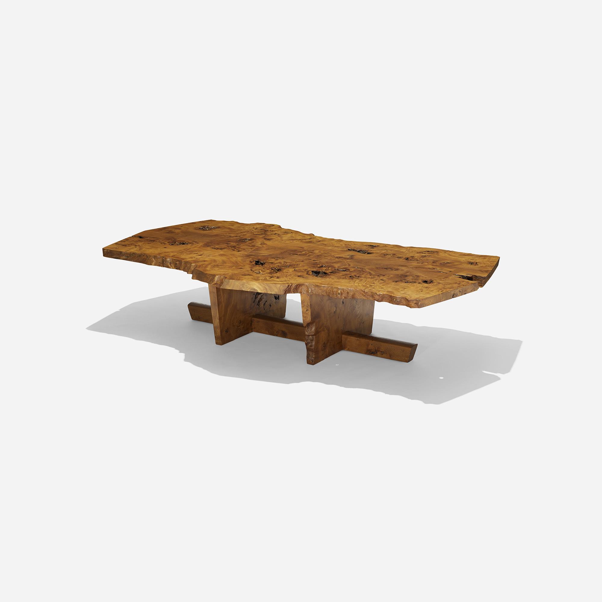 107 george nakashima important minguren i coffee table design