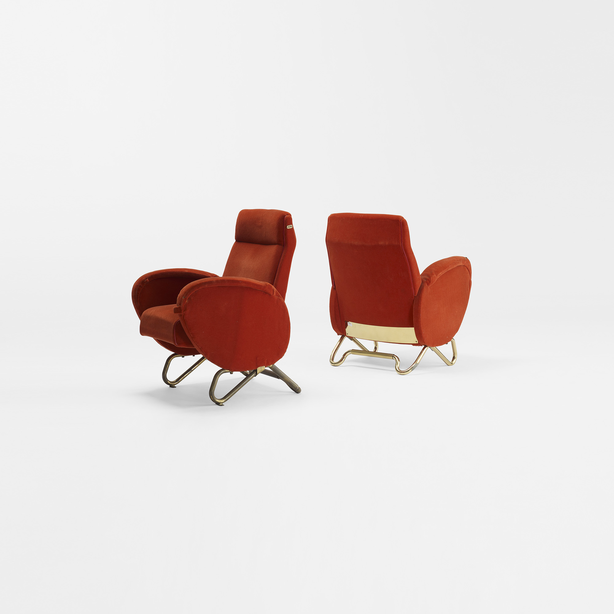 312 Carlo Mollino pair of theater chairs from the RAI