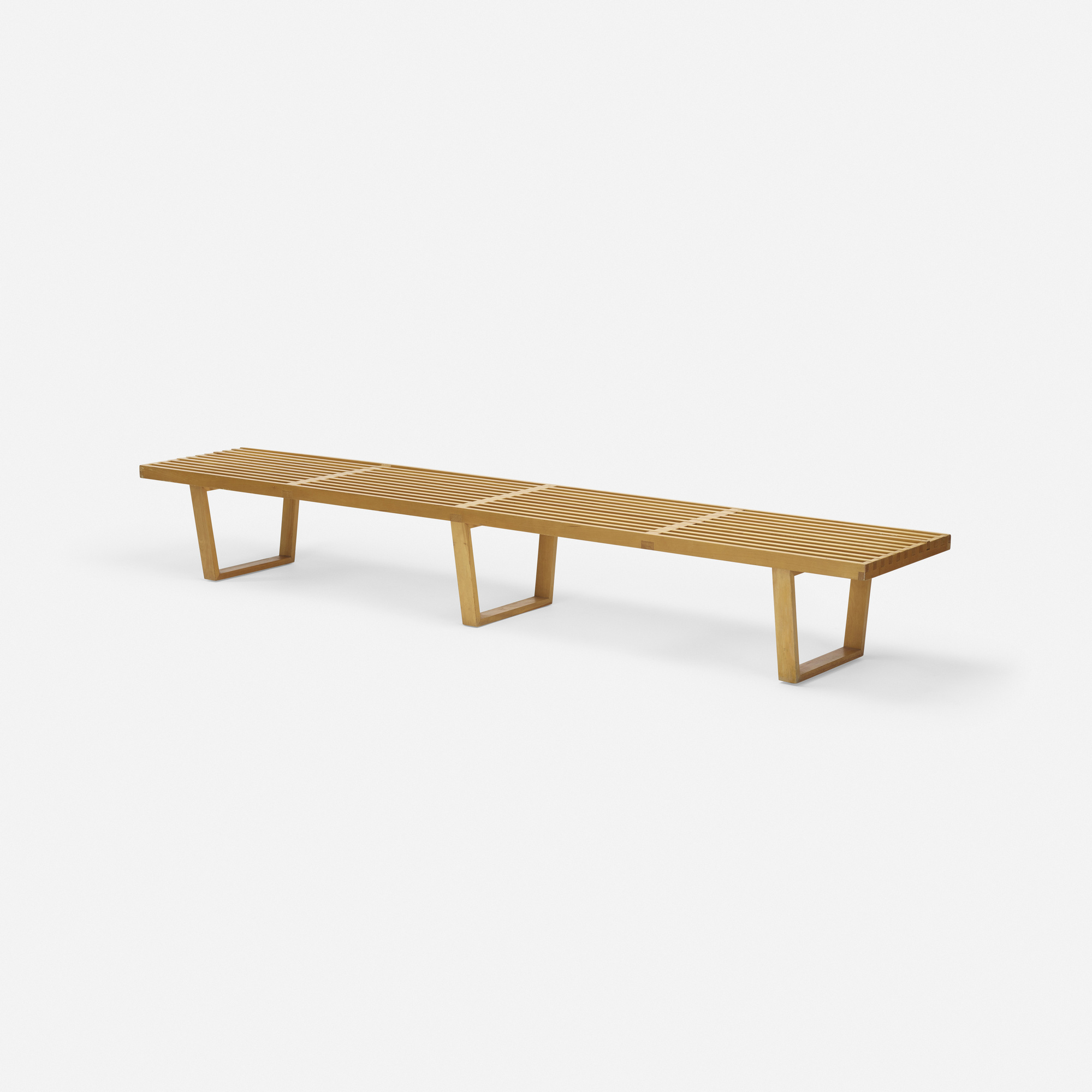 474 George Nelson & Associates Slat bench model 4690 Mass